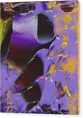 Jeweled Amethyst Wood Print by Nan Bilden