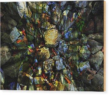 Jeweled Cavern Wood Print by Mindy Newman