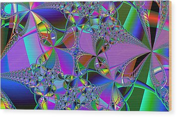 Wood Print featuring the digital art Jeweled Fantasy by Ann Peck