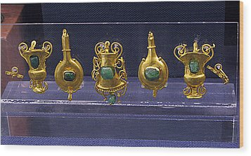 Jewellery With Gems Wood Print by Andonis Katanos