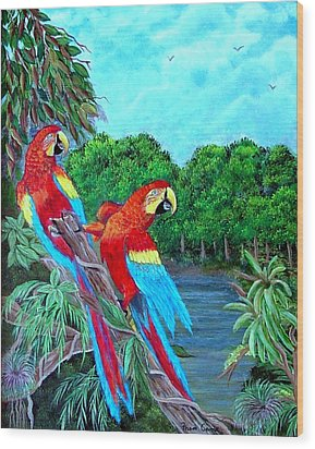 Jewels Of The Amazon Wood Print by Fram Cama
