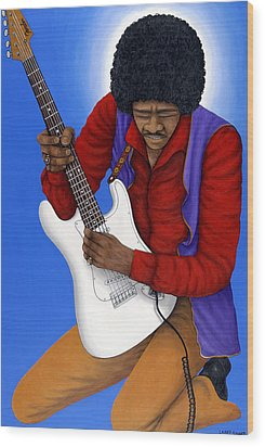 Jimi Hendrix  Wood Print by Larry Smart