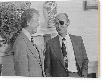 Jimmy Carter With Israeli Foreign Wood Print by Everett