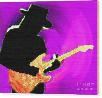 Jimmy Page Nixo Wood Print by Nicholas Nixo