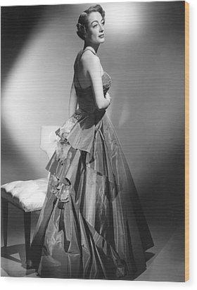 Joan Crawford, Circa Early 1950s Wood Print by Everett