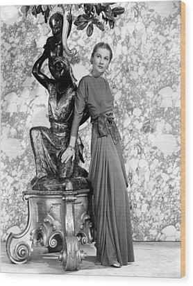 Joan Fontaine Wood Print by Everett