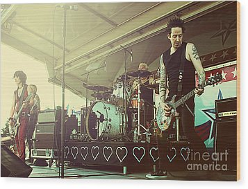Joan Jett And The Black Hearts Wood Print by Billie-Jo Miller