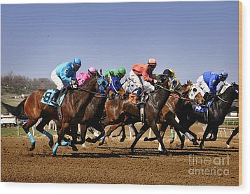 Wood Print featuring the photograph Jockeying For Position by Nava Thompson