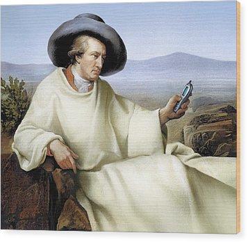 Johann Von Goethe, German Author Wood Print by Smetek