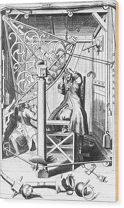 Johannes Hevelius And His Assistant Wood Print by Science Source