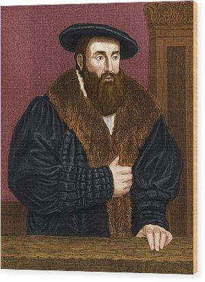 Johannes Kepler, German Astronomer Wood Print by Maria Platt-evans