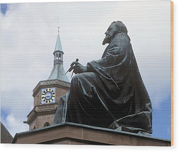 Johannes Kepler Monument, Germany Wood Print by Detlev Van Ravenswaay