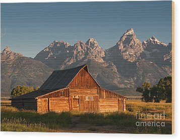 John And Bartha Moulton Barn Wood Print by Stuart Wilson and Photo Researchers