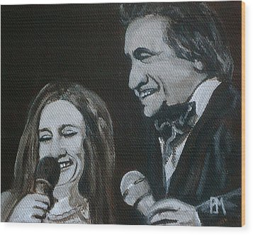 John And June Wood Print by Pete Maier