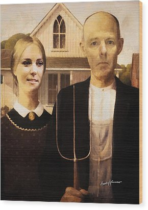 John And Kate Plus Eight Wood Print by Anthony Caruso