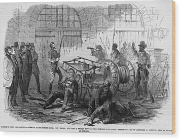 John Brown And Others Inside The Engine Wood Print by Everett