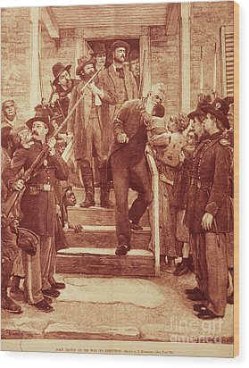 John Brown: Execution Wood Print by Granger