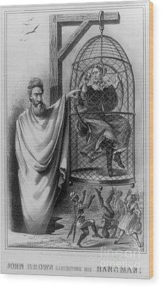 John Brown Exhibiting His Hangman, 1863 Wood Print by Photo Researchers