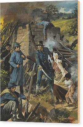 John Brown On 30 August 1856 Intercepting A Body Of Pro-slavery Men Wood Print by Andrew Howart