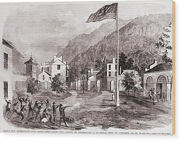 John Browns Harpers Ferry Insurrection Wood Print by Everett