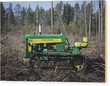 John Deere Tractor Model 430 Wood Print