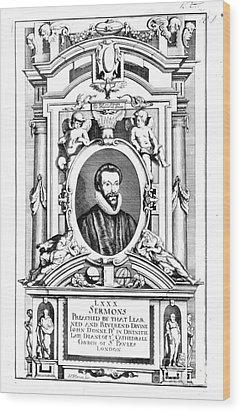 John Donne (1573-1631) Wood Print by Granger