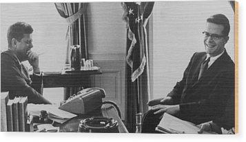 John F. Kennedy 1917-1963 And Theodore Wood Print by Everett