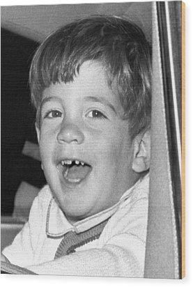 John Kennedy Jr. Smiles Wood Print by Everett