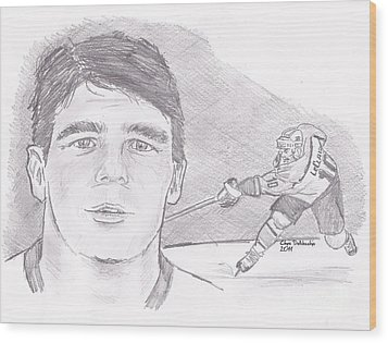 John Leclair Wood Print by Chris  DelVecchio