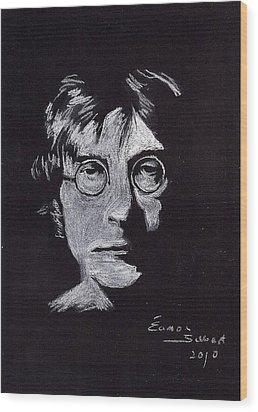 John Lennon Wood Print by Eamon Gilbert