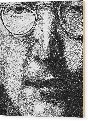 John Lennon Wood Print by Larry Joe