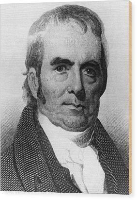 John Marshall, 1755-1835, Chief Justice Wood Print by Everett