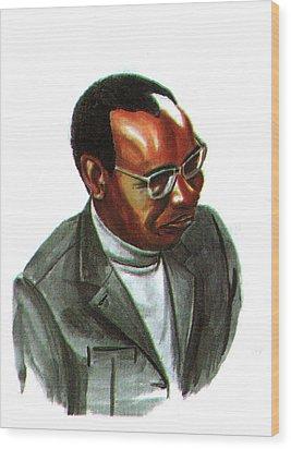 John Mbiti Wood Print by Emmanuel Baliyanga
