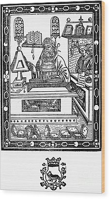 John Peckham, Anglican Theologian Wood Print by Science Source