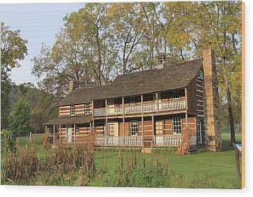 John T Mathias Homestead Wood Print by Frank Wickham