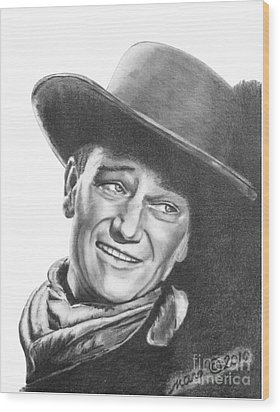 John Wayne   Dreamer Wood Print by Marianne NANA Betts