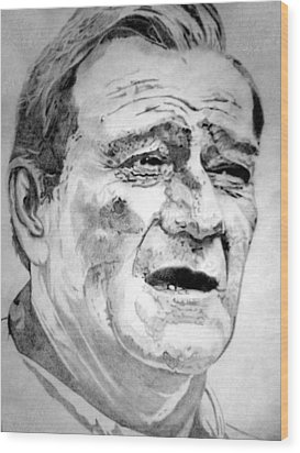 John Wayne - Large Wood Print by Robert Lance