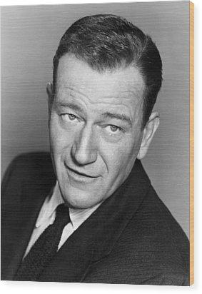 John Wayne, Warner Brothers, 1956 Wood Print by Everett