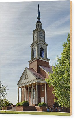 John Wesley Raley Chapel Wood Print by Ricky Barnard