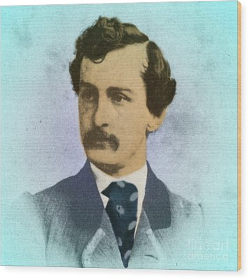John Wilkes Booth, Assassin Wood Print by Photo Researchers
