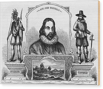 John Winthrop, English Puritan Lawyer Wood Print by Photo Researchers