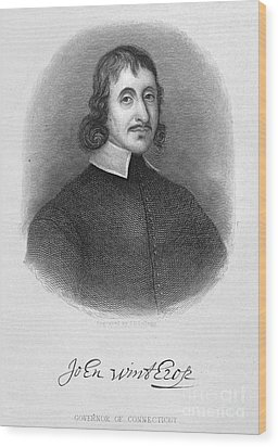 John Winthrop The Younger Wood Print by Granger
