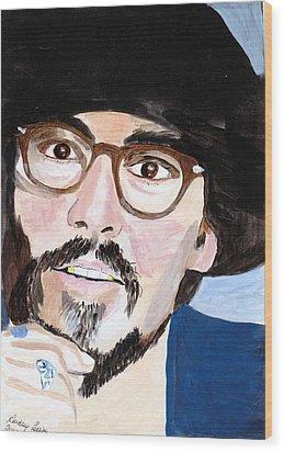 Johnny Depp 5 Wood Print by Audrey Pollitt