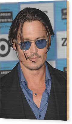 Johnny Depp At Arrivals For 2009 Los Wood Print by Everett