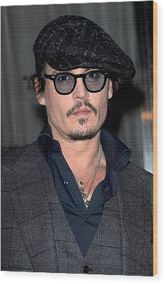 Johnny Depp At Arrivals For Playboy Wood Print by Everett