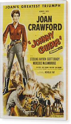 Johnny Guitar, Joan Crawford, Sterling Wood Print by Everett