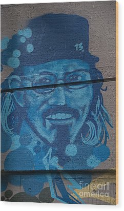 Wood Print featuring the digital art Johnny On The Wall by Carol Ailles