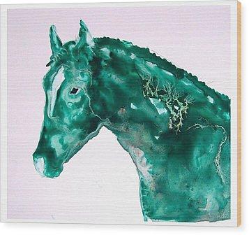 Joker - Study In Green Wood Print by Sue Prideaux
