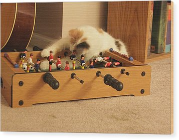 Wood Print featuring the photograph Jolie-boo Foosball by Rdr Creative