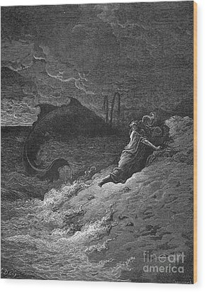 Jonah & The Whale Wood Print by Granger